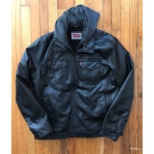 Levi Faux-Leather Jacket Men's Size L